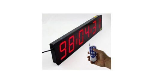 ساعت و دماسنج و رطوبت سنج دیجیتال دیواری بزرگ