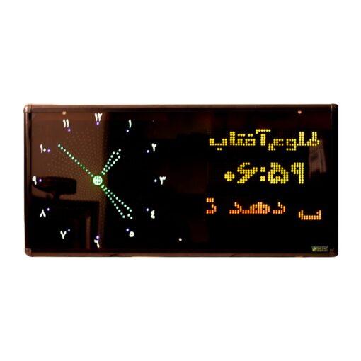 ساعت و تقویم اذان گو مسجدی مدل C90 افقی