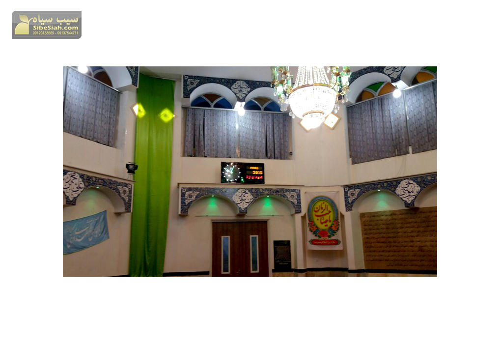 ساعت دیجیتال دیواری ، ساعت مذهبی ، ساعت حرم رياف ساعت حرم ، ساعت مسجدی