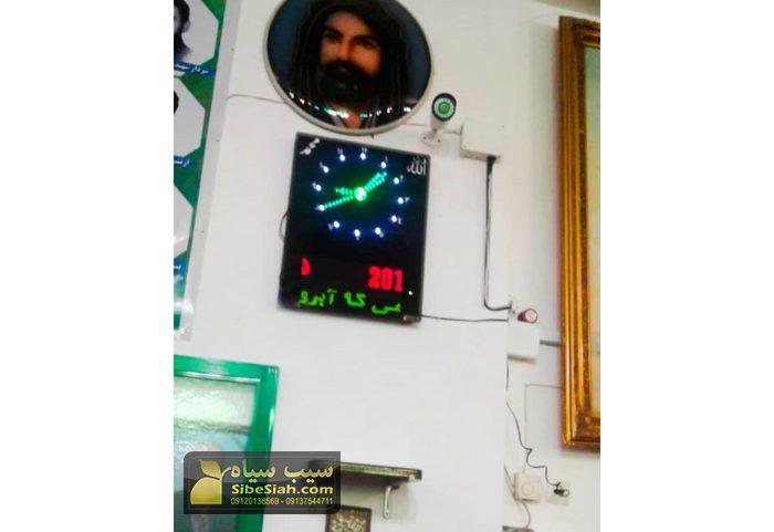 تابلو ساعت و تقویم دیجیتال مسجدی اذانگو -آذربایجان شرقی