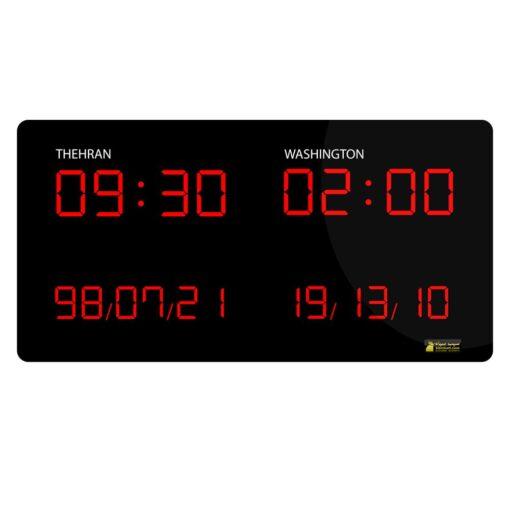 ساعت جهانی دیجیتال صرافی هتل بانک