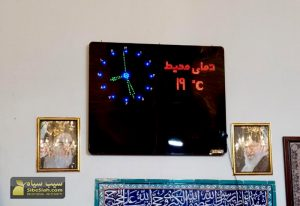 تابلو دیجیتال مسجدی اذانگو حرم مذهبی آمل