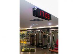 ساعت دیجیتال سالنی باشگاهی دو طرفه باشگاه پاد تهران