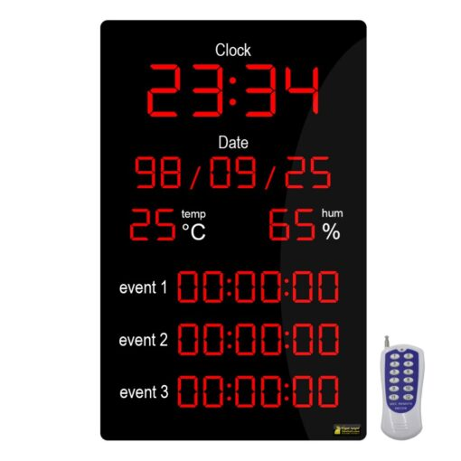 ساعت، کرنومتر، دماسنج و رطوبت سنج بیمارستانی اتاق عمل مدل HOS9060