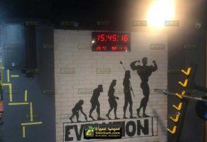 ساعت و تقویم دیجیتال باشگاهی بدنسازی بندرعباس