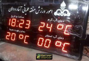 ساعت، دماسنج و رطوبت سنج دیجیتال استخری - منطقه عملیاتی آغار و دالان