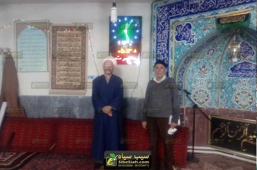 ساعت مسجدی اذان گو نصب شده در مسجد جزن طالقان