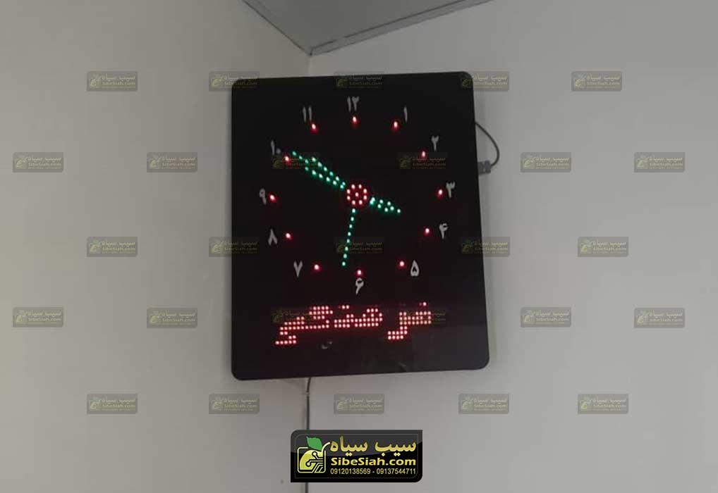 تابلو ساعت اذان گو مسجدی نصب شده در دامغان