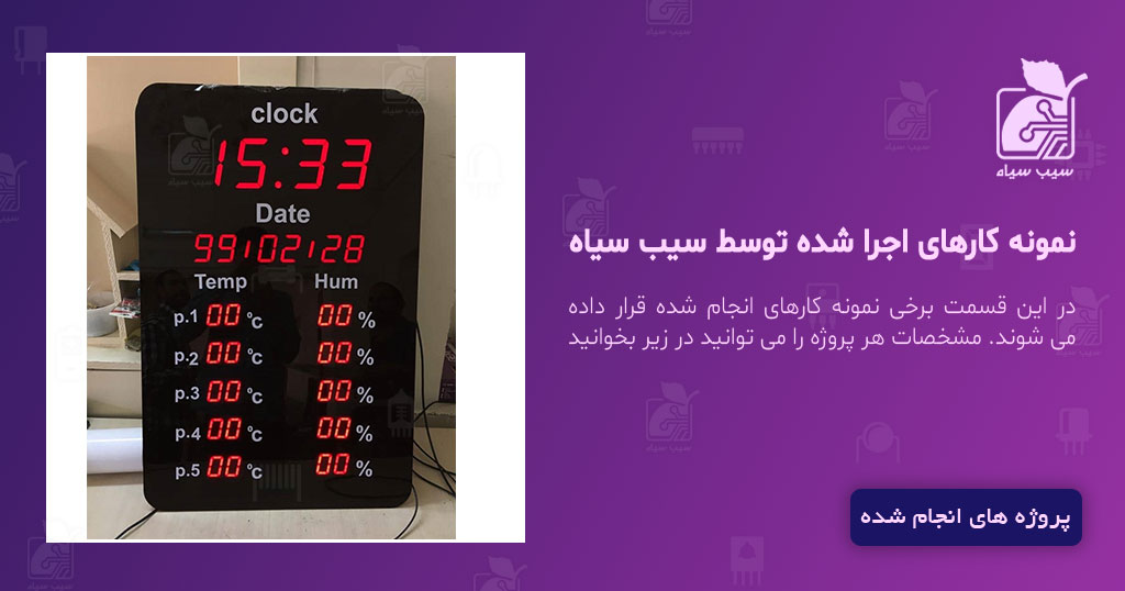 ساعت، دماسنج و رطوبت سنج -شرکت پکا شیمی تهران