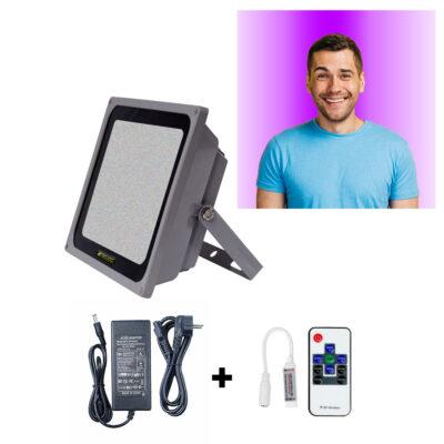 نور پروژکتوری رنگی پس زمینه یا بک گراند رنگی RGB برای ویدیو