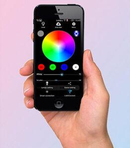 اپلیکیشن نورپردازی رنگی برای پس زمینه ویدئو