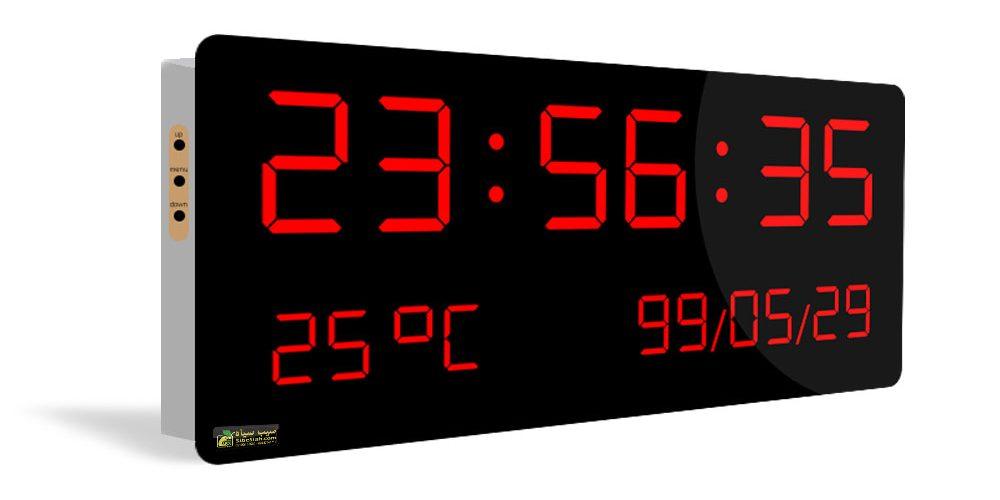ساعت دیجیتال و تقویم دیجیتال دیواری مدل HMS35